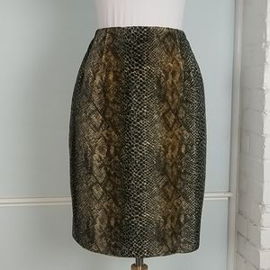 Harve benard faux fur pencil skirt